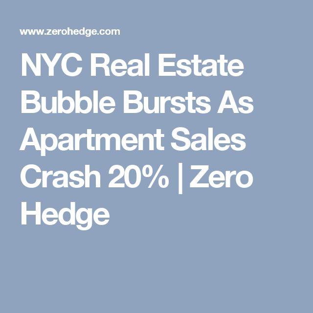NYC Real Estate Bubble Bursts As Apartment Sales Crash 20%   Zero Hedge