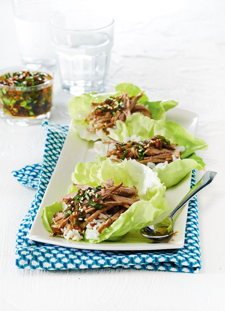 Slow Cooker Korean Pork Lettuce Wraps