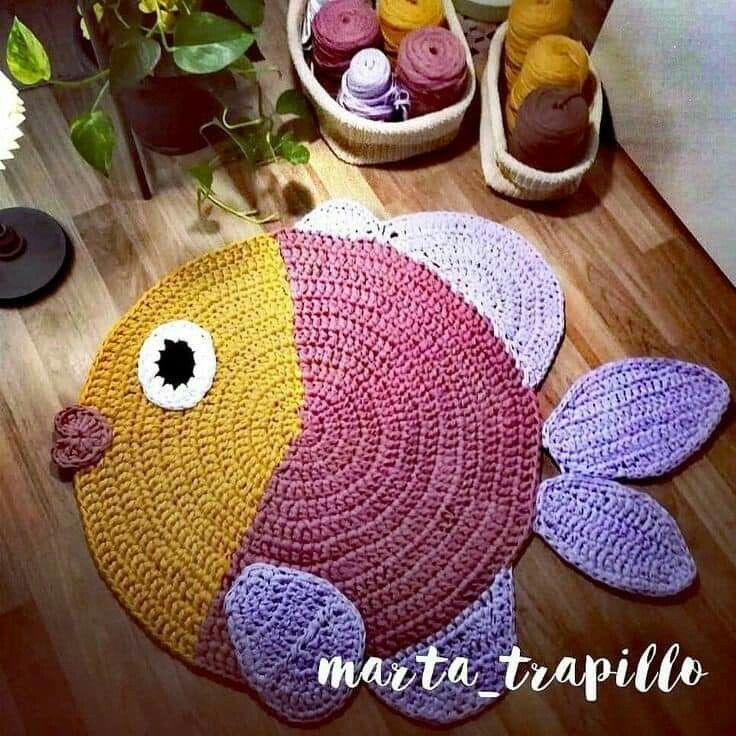 Pin By Muna Crochet On Croche Crochet Carpet Crochet Rug Patterns Crochet Mat