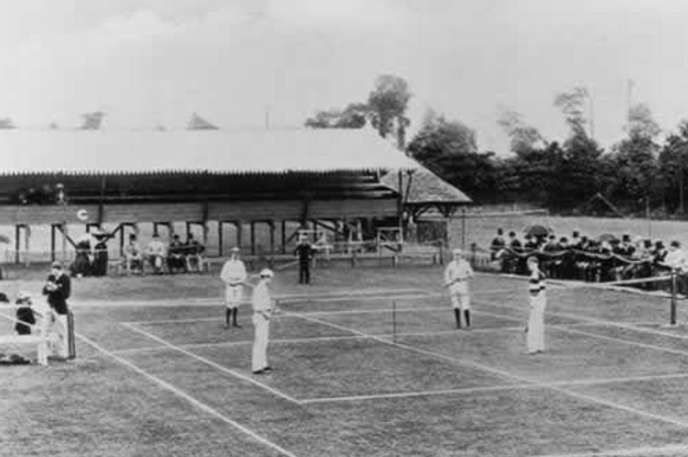 The very first Wimbledon match.