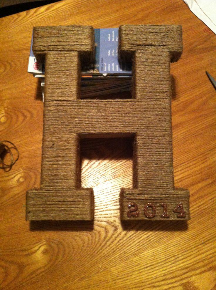 DIY Wedding Present (cereal box, tape, twine, chipboard stickers) #diy #wedding #present