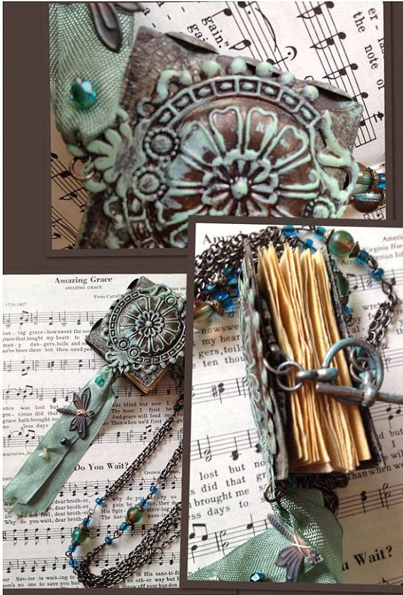 Lady Morris Mini Book Necklace by leVintageViolet on Etsy, $72.00