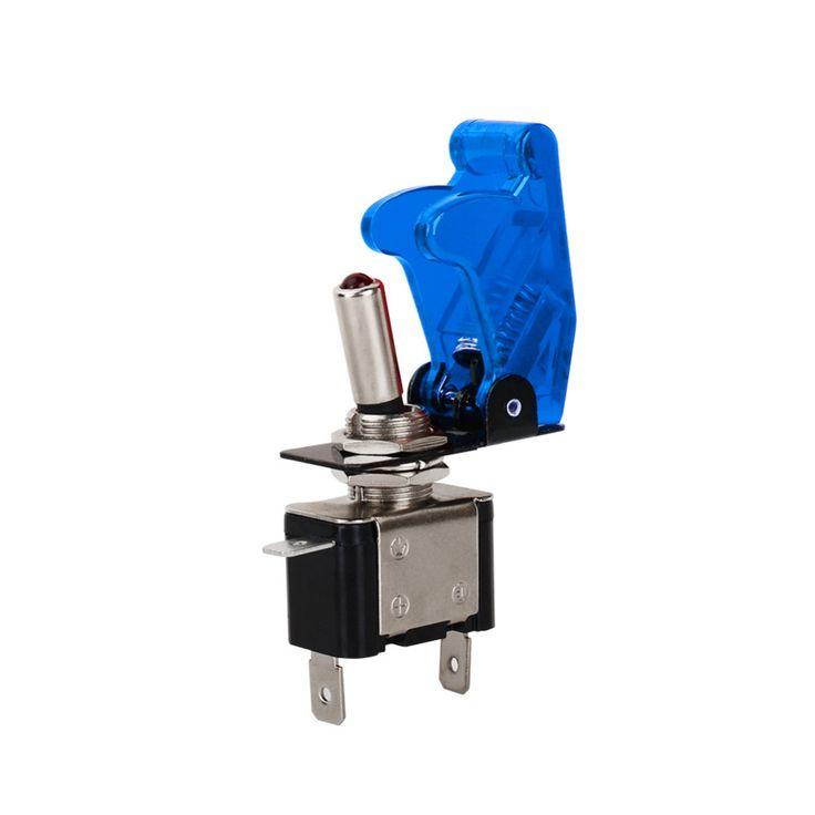 2016 Nuevo Llega 1 UNIDS Color Azul 12 V 20A Funda Coche Auto Luz LED SPST Interruptor de Palanca de Control On/Off Durable