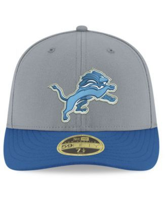 New Era Detroit Lions Team Basic Low Profile 59FIFTY Fitted Cap - Gray 7 1/8