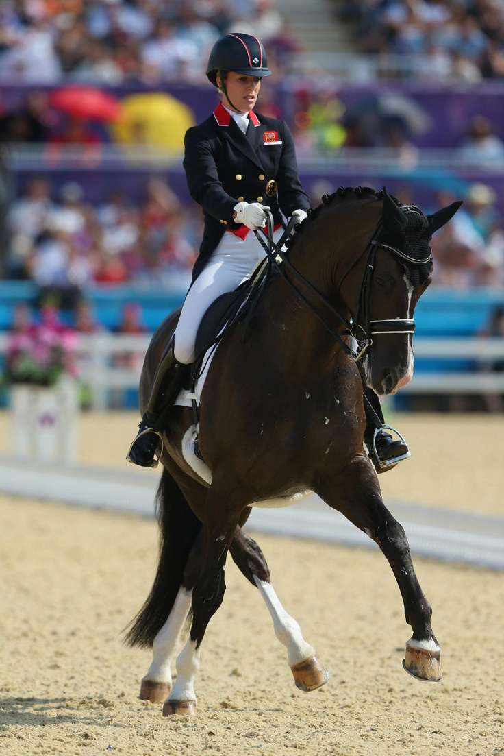 Day thirteen: Charlotte Dujardin of Team GB riding Valegro competes in the Individual Dressage.