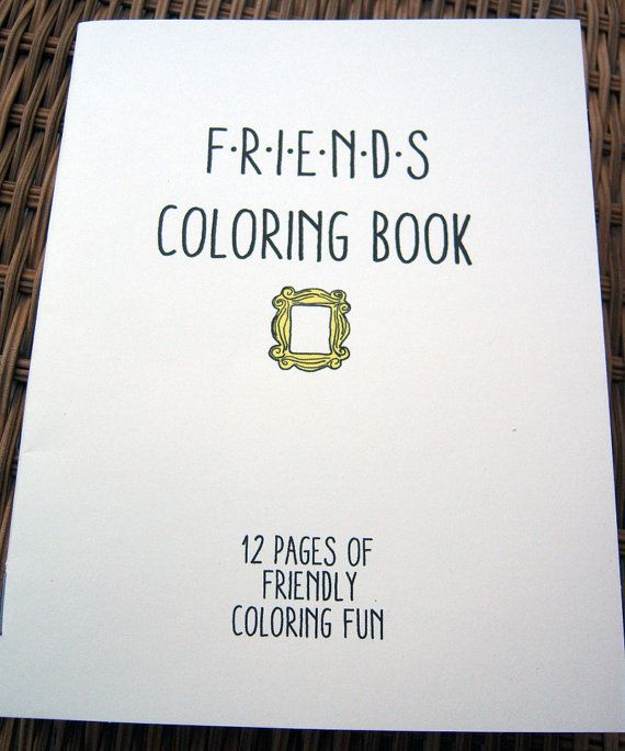 Friends Coloring Book by sweetgeek on Etsy