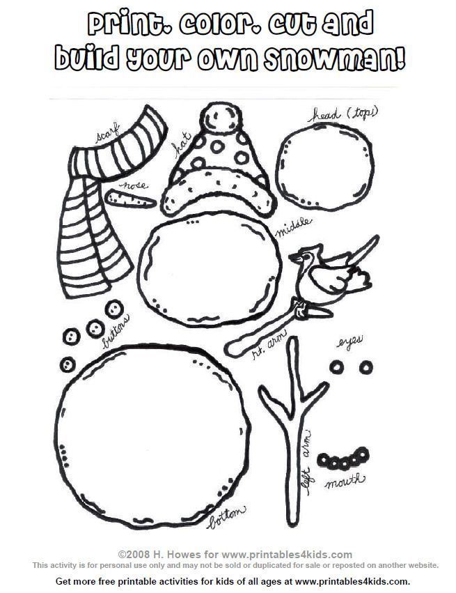 fabric snowman craft   Build your own Snowman Kit
