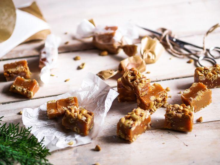 Мягкие карамельные ириски с соленым арахисом