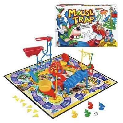 Mouse Trap, I had this !  It took forever to set up, and always fell apart when you put the rolling ball through.