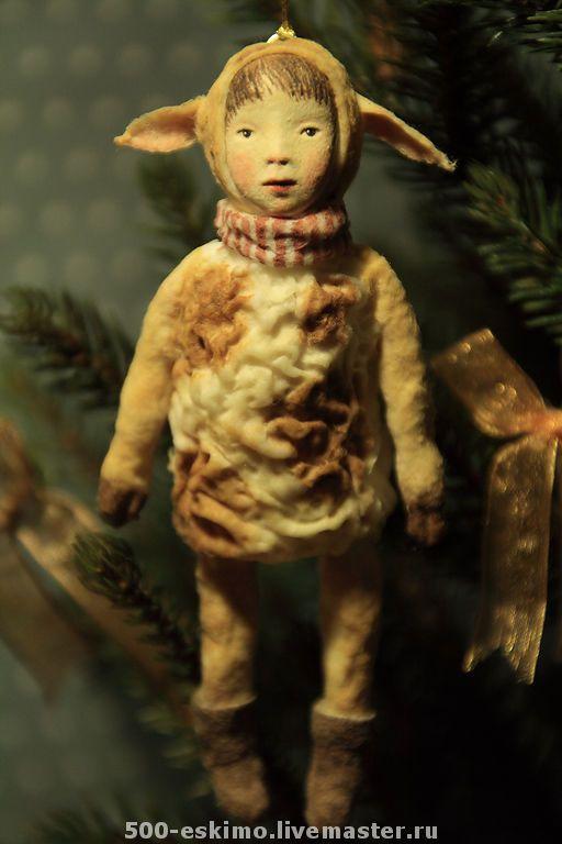 "МК ""Ватные игрушки на ёлку"" - Ярмарка Мастеров - ручная работа, handmade"