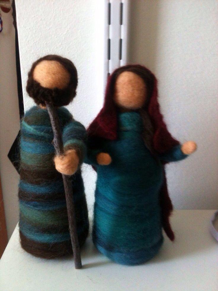María y San José  Trabajo de la mano#Germanita