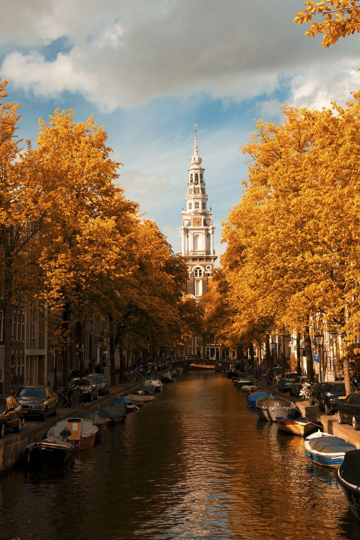 There's no better time to visit the Netherlands than fall, when Amsterdam's canals are lined with autumn colors.