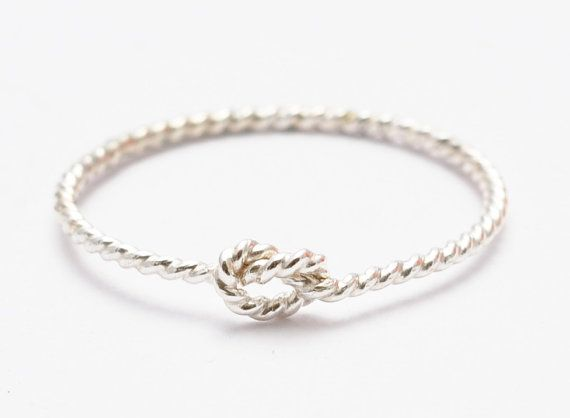 Sterling Silver Knot Ring Friendship Tie the by BlueRidgeNotions, $15.00