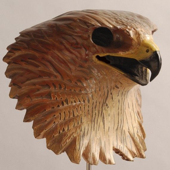 Eagle wood carving mask, Hand Carved Wood Sculpture | Woodcarvings | Pinterest | Wood sculpture ...