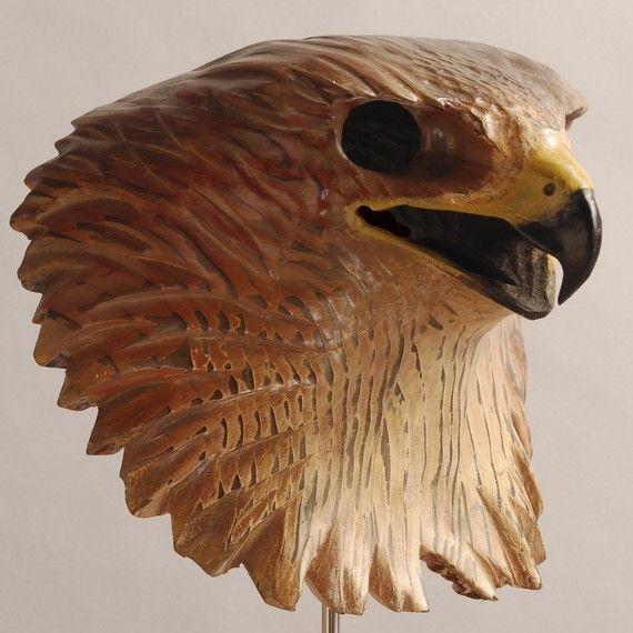 Bald Eagle Mask Hand Carved Wood Sculpture by jasontennant on Etsy, $475.00