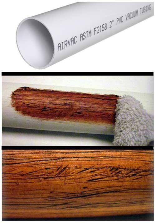 Faire un faux fini bois avec un tuyau de pvc