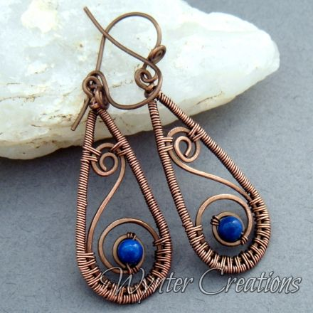Layla Earrings with Blue RIverstone