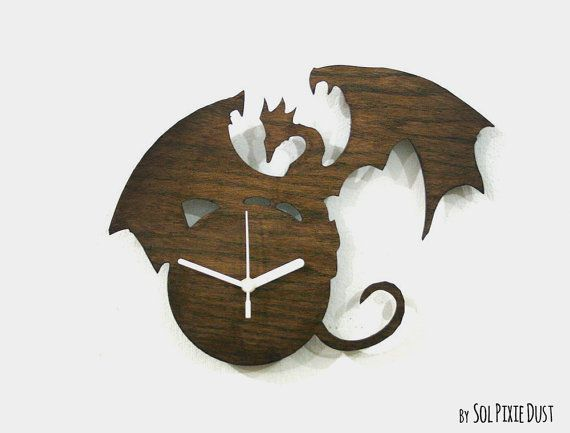 """Each Clock is unique and the wood grain and color tone will vary slightly ✔ DIMENSIONS ‾‾‾‾‾‾‾‾‾‾‾‾‾‾‾‾‾‾‾‾‾‾‾‾‾‾‾‾‾‾‾ ↔10.8"""" (27cm) width ↕ 9.4"""" (24m) height ✔ SPECIFICATIONS ‾‾‾‾‾‾‾‾‾‾‾‾‾‾‾‾‾‾‾‾‾‾‾‾‾‾‾‾‾‾‾ ❂ The clock is made of wood 3mm thick / Varnished or Natural ❂ Clock"""