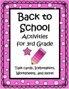 Third Grade Back to School Worksheets & Printables