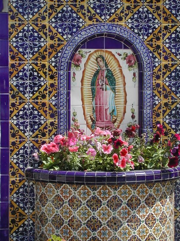 Mexican icons: Guadalupe and talavera