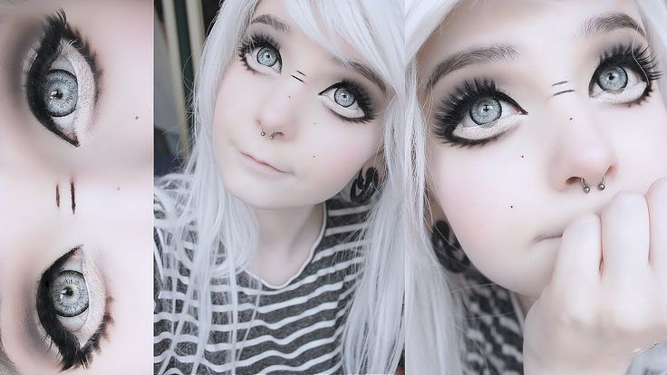 Big anime doll eyes tutorial                                                                                                                                                     More