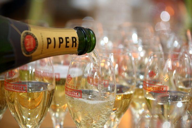 Champagne bij Lute Restaurant in Amstelveen...
