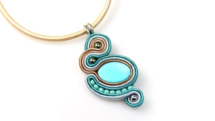 Soutache pendant - tutorial DIY