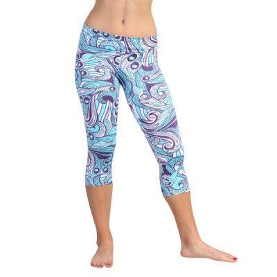 Capri Legging in Spring in Purple - $49.00