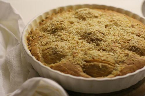 Чадейка - Яблочный пирог с сахарно-миндальной корочкой - Apple Pie covered with sugar and chopped almond