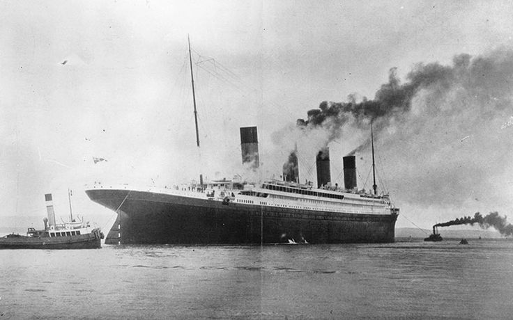 The Luxury White Star Liner Titanic,which sank on it's maiden voyage to America in 1912,on trials in Belfast Lough. www.guardian.co.uk