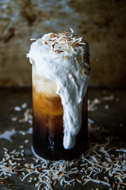 Coconut Rum Iced Coffee Vegan. This is perfection.