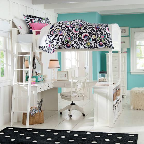 Chelsea Vanity Loft Bed | PBteen
