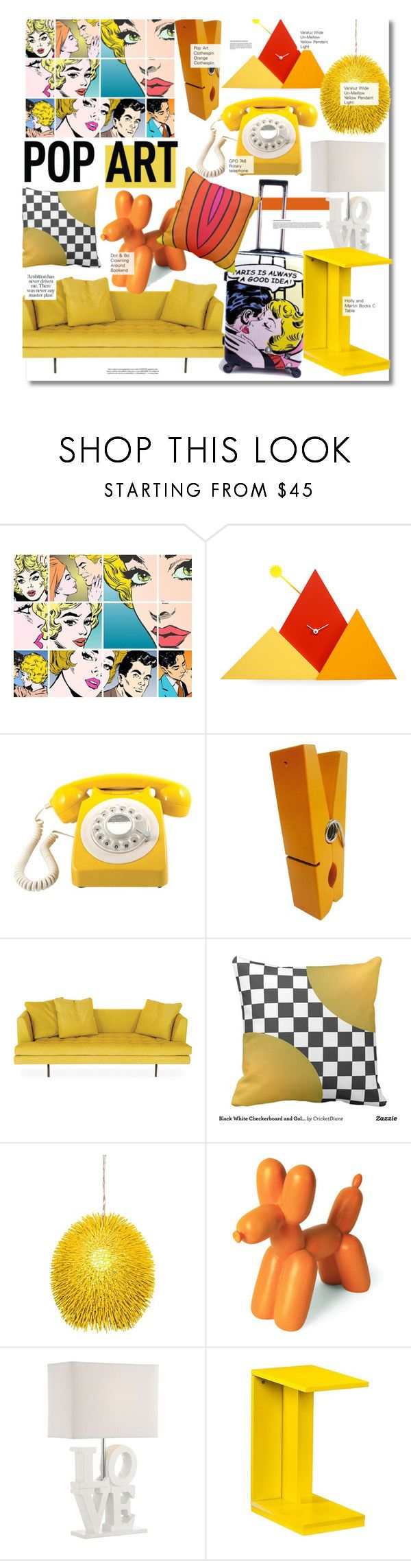"""Pop Art Decor"" by kusja on Polyvore featuring interior, interiors, interior design, home, home decor, interior decorating, Progetti, Bensen, Varaluz and Dot & Bo"