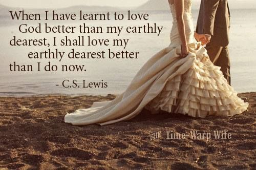 Love this quote by C.S. Lewis and the dress