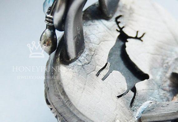 Кольцо Вечные льды Лапландии. серебро  лабрадор. от HoneyAndRings, $215.00