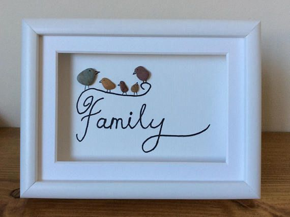 Check out this item in my Etsy shop https://www.etsy.com/uk/listing/579003857/framed-pebble-art-picture-family