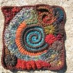 spirally afghan square – gorgeous!Fibre Hacks, Home Crafts, Favourite Fibre, Afghans Squares, Spirals Afghans, Jewelry Diy