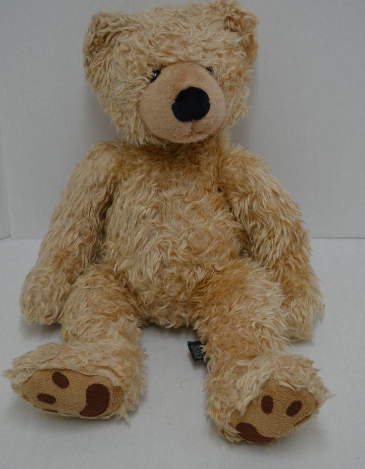 """Russ Berrie Beckett Teddy Bear Plush Brown Bean Bag Lovey #24151 18"""" #Russ"""