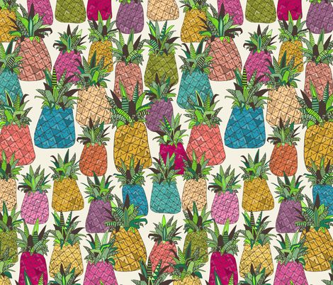 West Coast pineapples fabric by scrummy on Spoonflower - custom fabric