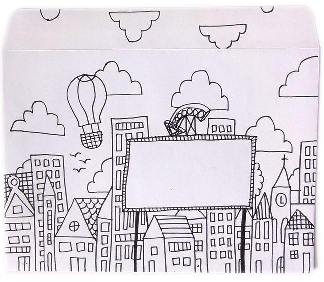 Snailmail Magazine #mail_art #doodling #cityscape