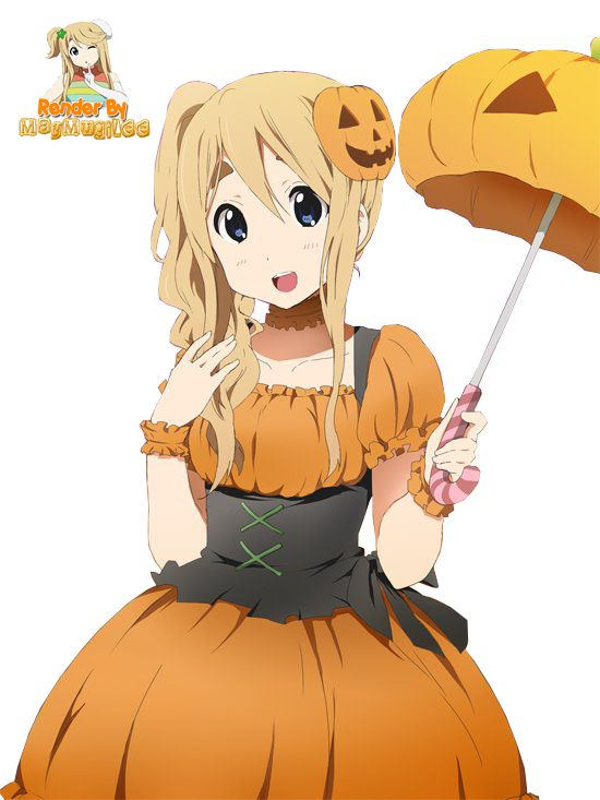Anime Characters For Halloween : Tsumugi halloween render by maymugilee viantart on