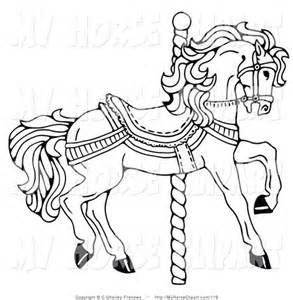48 Best Carousel Horse Coloring Pages Images On Pinterest