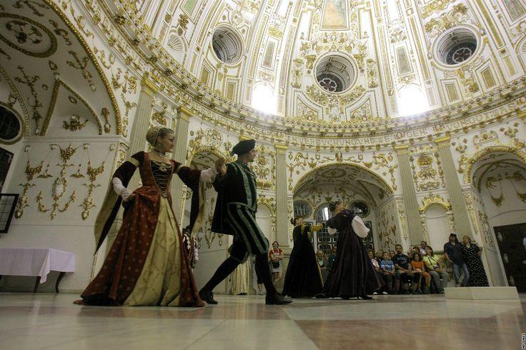 Nádherný interiér renesančního rondelu na zámku v Jindřichově Hradci