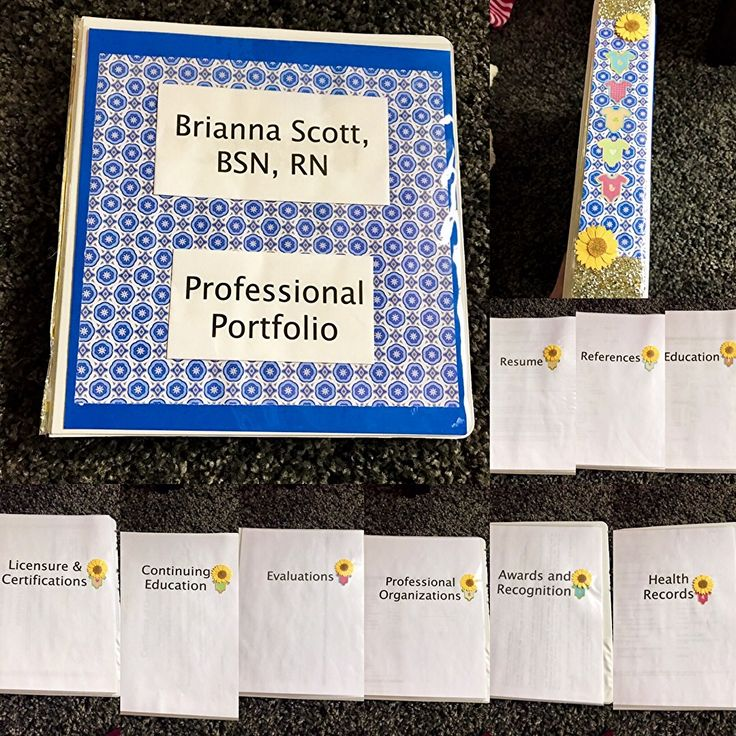 My NICU nurse professional portfolio and categories. Great way to bring all of your important paperwork and recommendations to an interview. Stand out!