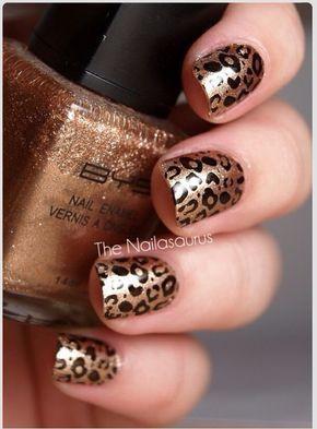 Bronze lepord mani