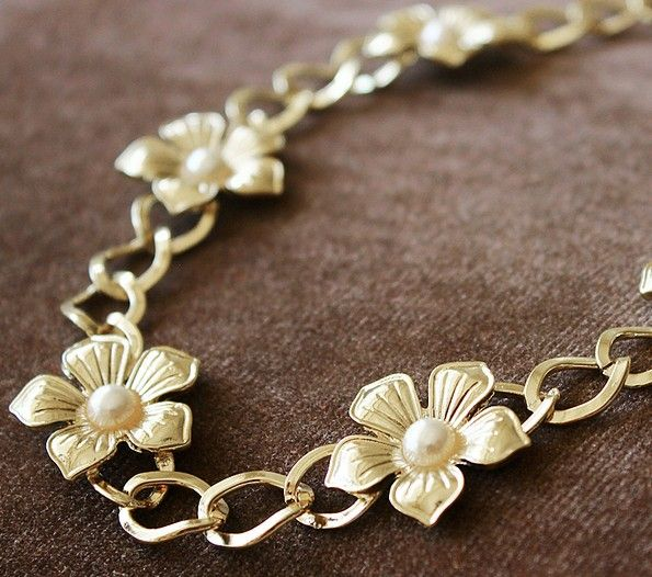 Metalowa Opaska do włosów złota kwiaty GOLDEN FLOWERS