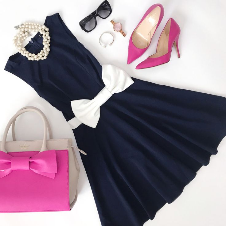 bow dress bow purse pink pumps girl outfit idea wedding shower dress
