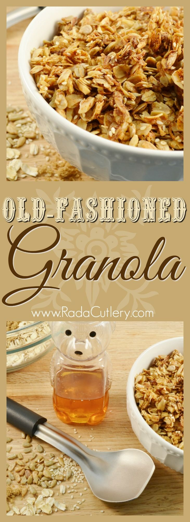 Instead of buying granola the next time you go shopping, buy the ingredients! This amazing homemade granola recipe tastes much better than the store-bought kind and is delightfully easy to make. Make some and watch as your friends and family rave! #granola