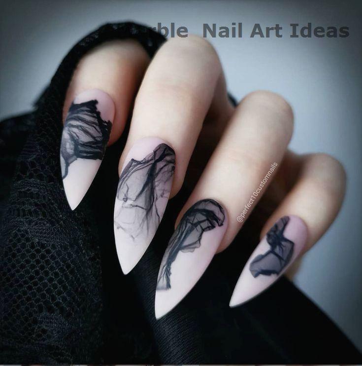 60 Amazing Hottest Stiletto Nails Art Design Ideas
