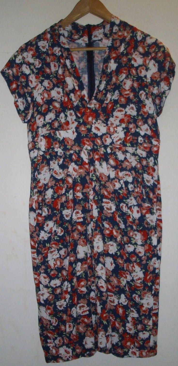 Leona by Leona Edmiston Multi Coloured Viscose Short Sleeved Dress - Size 12   eBay